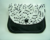 Card Keeper in Making Music in Black and White - Credit Card Caddy - Business Card Holder - Ready To Ship