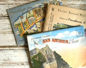 Vintage Postcards, Souvenir Postcards, Lot of Souvenir Postcards, Souvenir Folder, San Antonio TX, Providence RI, Panama City, FL Postcard