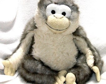 Weighted recycled stuffed monkey FREE SHIPPING
