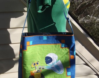 Wall E  Slouch Bag --   Meduim Sized    Cross- Body Adjustable  Disney