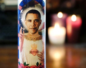 Saint Obama Prayer Candle / POTUS / Barack Obama