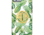 Personalized iPhone / Cell Phone Case - BANANA LEAF Collection - White