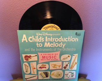 BIRTHDAY SALE Vinyl Record Album Disney's A Child's Introduction to Melody Lp 1962 Educational