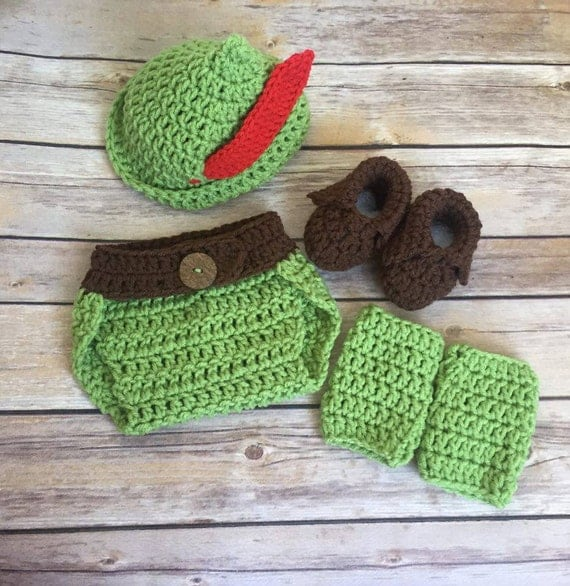 Peter Pan Hat Crochet Pattern Instant Download Robin Hood