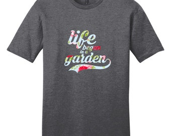 Life Began In A Garden - Women's T-Shirt