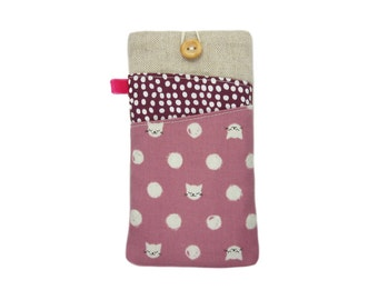 Cat Phone Case, Moto G5 Case, Nexus 6P, Samsung S8 Plus, Galaxy S7 Edge, LG G6, OnePlus 3T, Xperia Phone Sleeve, Cat Lover Gift