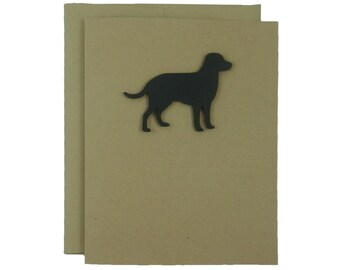 Labrador Retriever Blank Dog Card Single Card or 10 Pack Black Lab Dog Note Cards Blank Pet Card Dog Cards Dog Lover Gift