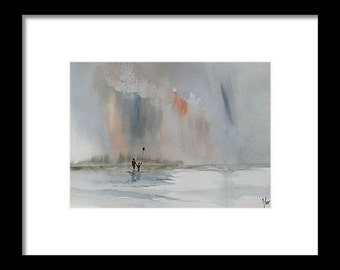 Original colorful print LANDSCAPE original watercolor original painting modern LANDSCAPE PAINTING,