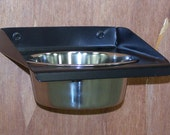 Single pint bowl wall mounted metal feeder toy breed dog or cat size
