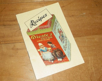 Vintage Droste's Cocoa Recipe Booklet • printed in Holland