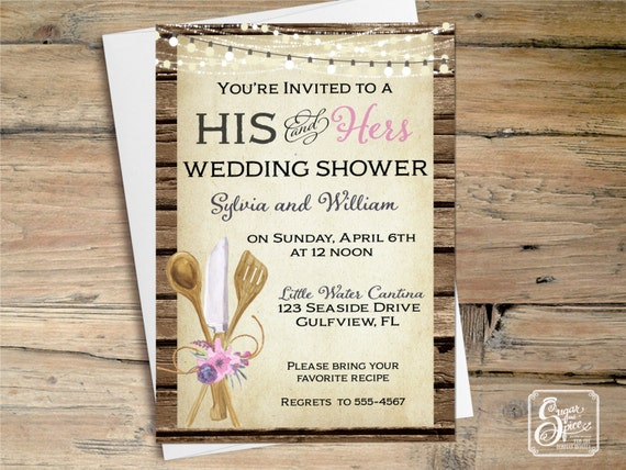 Wedding Shower Invitations For Couples: Rustic Bridal Shower Invitation Couples By