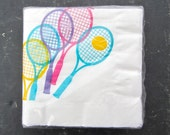 Vintage Sporting Tennis Napkins 80s Preppy Unopened Pack of 30