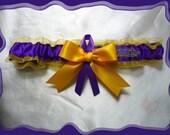 LSU Gold Ribbon Wedding Garter Toss Tigers
