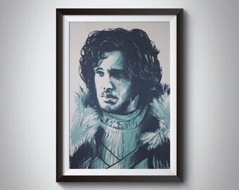Game of Thrones Jon Snow Screen Print