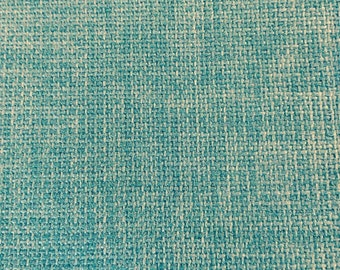 LIGHT TURQUOISE poly cotton solid woven upholstery fabric home decor, 02-47-04-0614