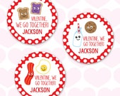 Valentine's Day Stickers - Perfect Pairs - Sheet of 12 or 24