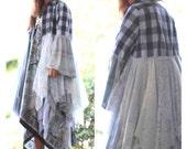 Stevie Nicks style coat, Bohemian lace duster, Romantic winter white coat dress, Boho dresses, Shabby  jacket, True rebel clothing