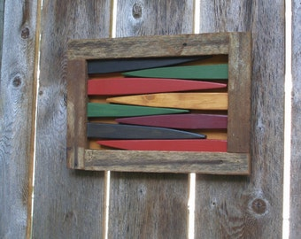 Rustic Wooden Wall Art for Outdoor and Indoor Home Decor - Unique Outdoor Garden Art - Handcrafted Quality by Laughing Creek