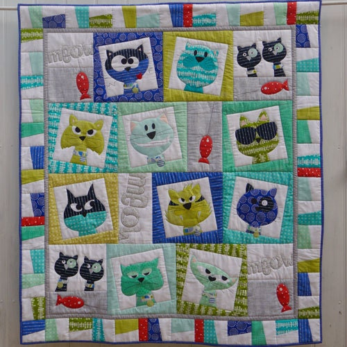 Cat Face Applique Quilt Pattern By Braidcraft On Etsy