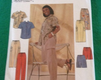 Simplicity Sewing Pattern #8659 Size FF 18W 24W Woman Shirt Pants Skirt