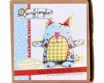 Kitty the Cat Kit, Stuffed Toy, by Jennifer Jangles,  # JJSP5104 - Free Shipping