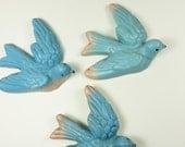 Vintage Ceramic Bluebird Plaques