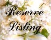 Reserved Listing for dspecialk