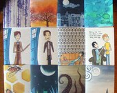 Any Two Notebooks - Sherlock Watson Abstract Art Doctor Who Trees Moon Townhouses