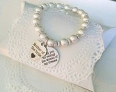 Mother Of Groom Gift, Mother In Law, Thank You For Raising The Man Of My Dreams, Mother In Law Bracelet