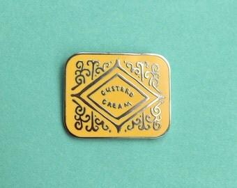 Custard Cream Biscuit Enamel Pin