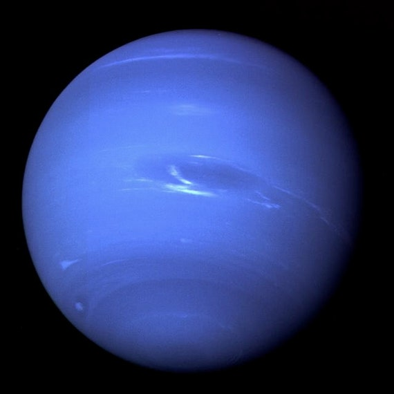 Neptune Outer Solar System Planet NASA Scientific Blue Gas