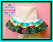 Premium Elsa Conornation dress inspired triple layer ruffle girl socks with custom top ribbon color options - Disney inspired