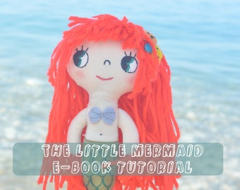 Little mermaid fabric doll turorial ebook