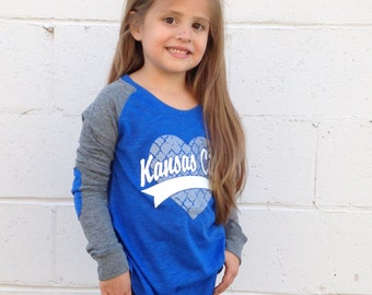 Youth Patch Elbow Long Sleeve Kansas City Heart