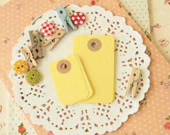 Sunlight Yellow reinforced Rounded Midi Tags