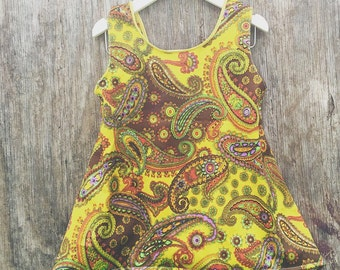Retro 70's inspired pixie top - made to order in sizes 1-6yrs
