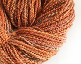 Handspun Yarn Kent Romney - Copper Twist - 200g - Worsted / Aran Yarn