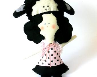 1 SHEEP handmade Doll - Wall hanging doll - KIDS decoration