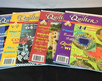 American Quilter Magazine - 2008 Collection - 4 Issues: January, July, September and November 2008 - Like New Condition