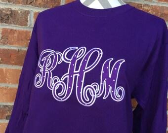 Vines Applique Monogram Shirt, Sweatshirt, or Hoodie