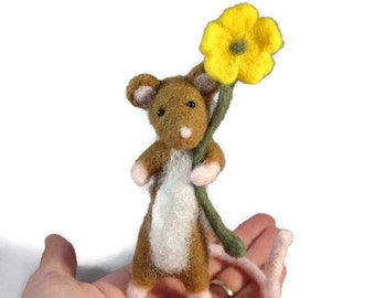 Needle Felted Mouse, Felted Mice, Needle Felted Animal, Mouse Gift, Mouse Decor, Felted Animal, Felt Animals, Wool Mouse, Mouse Plush