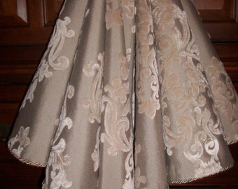 AMAZING 58 Taupe on Taupe Stunning Damask Reversible Christmas Tree Skirt 2016 Collection