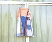 large - plus - patchwork Jacket Wearable Art Layered Upcycled clothing Funky Jacket  / Eco Artsy Jacket by CreoleSha