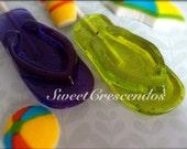 FLIP FLOP Lollipops- Hard Candy Lollipops- Beach Party Lollipops- Birthday Lollipops- Lual Lollipops- Hawaiian Party Lollipops