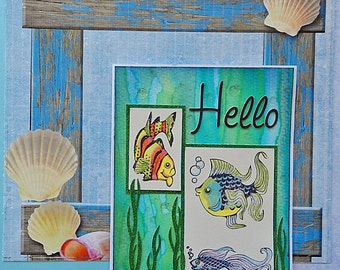Fishes Hello Note Card