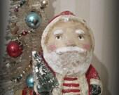 Folk art - Santa Claus- Belsnickel- papier mache- handmade art doll- OOAK doll