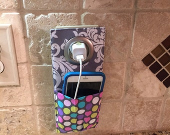 Cell Phone Holder Wall Socket Docking Station IPhone