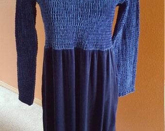 Gorgeous Sarah Chapman Purple/Blue Vintage Velvet Dress