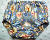 CLEARANCE, price reduced, Baby boy rodeo small bloomers featuring Michael Miller fabric
