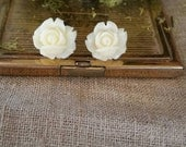 Flower Plugs Gauges Cream Roses